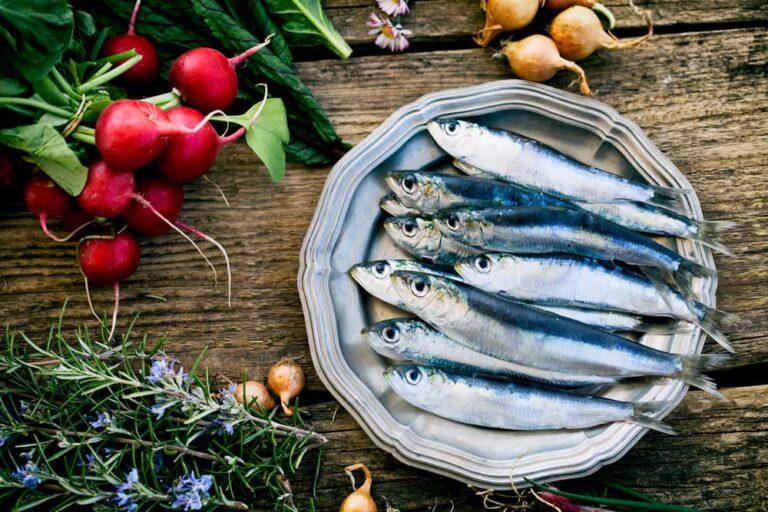 sardines on a plate