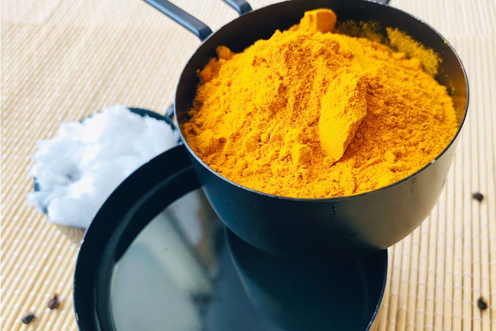 Ingredients for turmeric paste for dogs