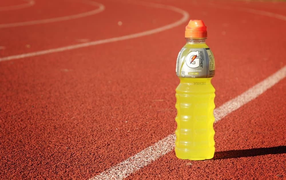 Gatorade on running track