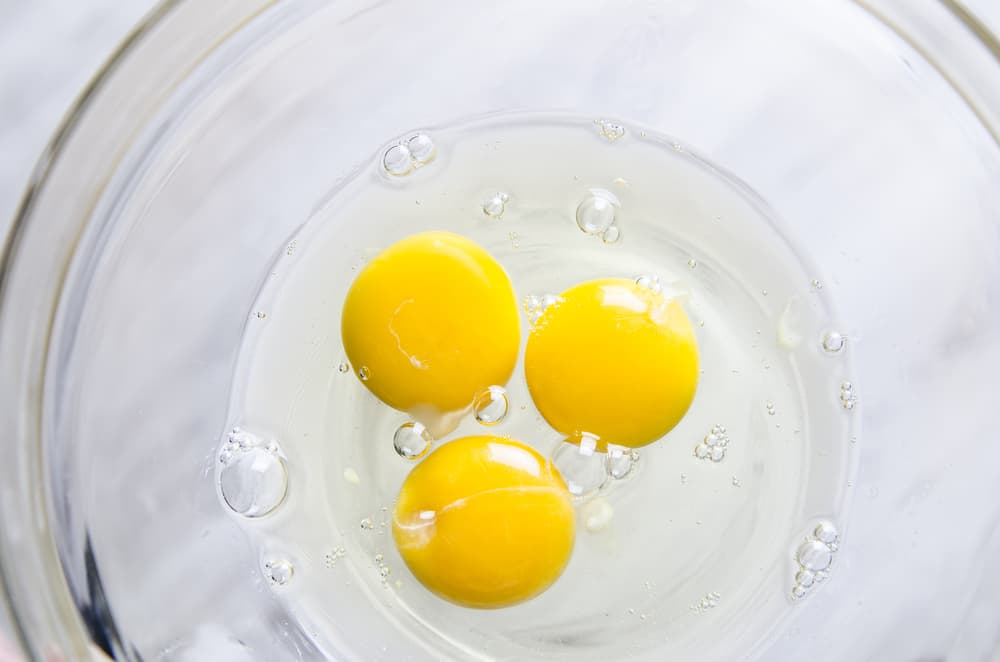 raw eggs in bowl