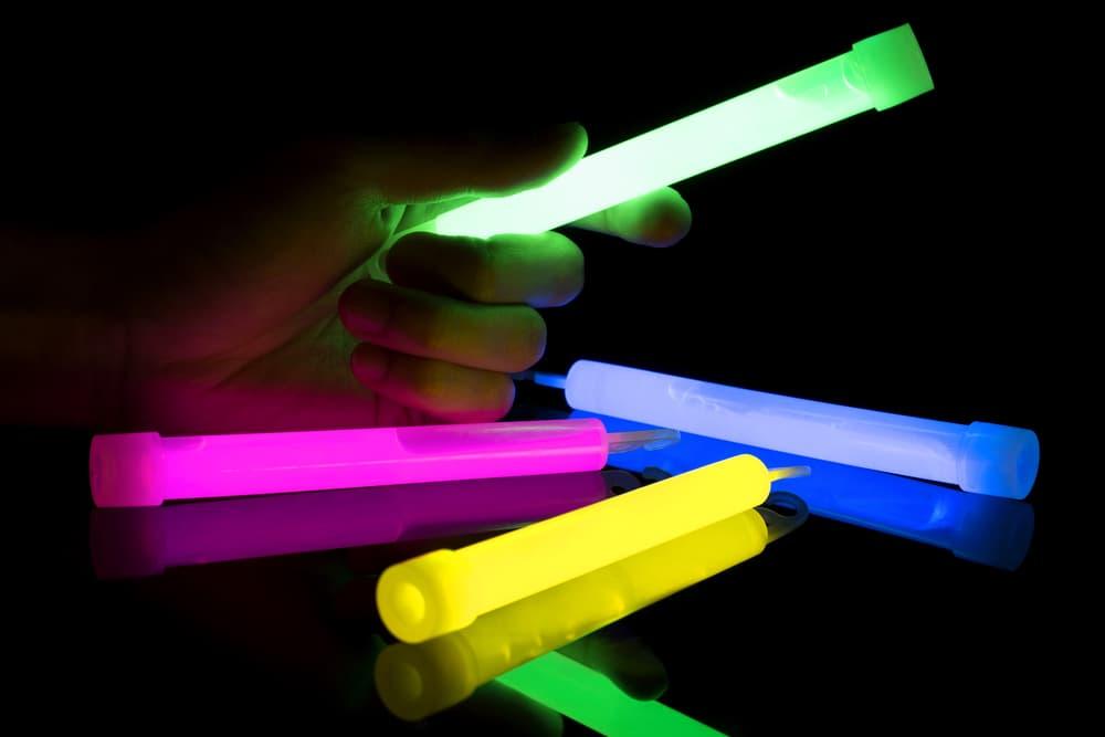 Glow sticks in the dark