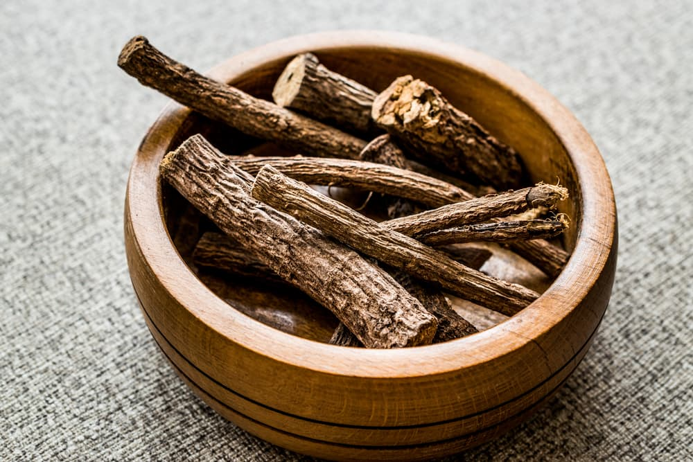 Dried licorice root branches