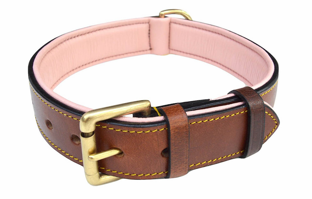 Soft Touch Leather Dog Collar