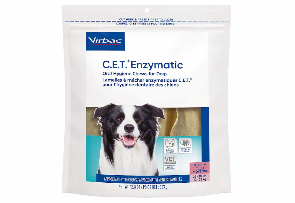 Oral hygiene chews for dogs
