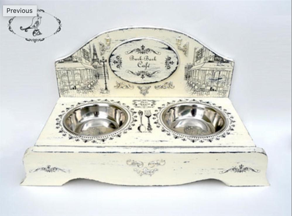 French style dog feeder