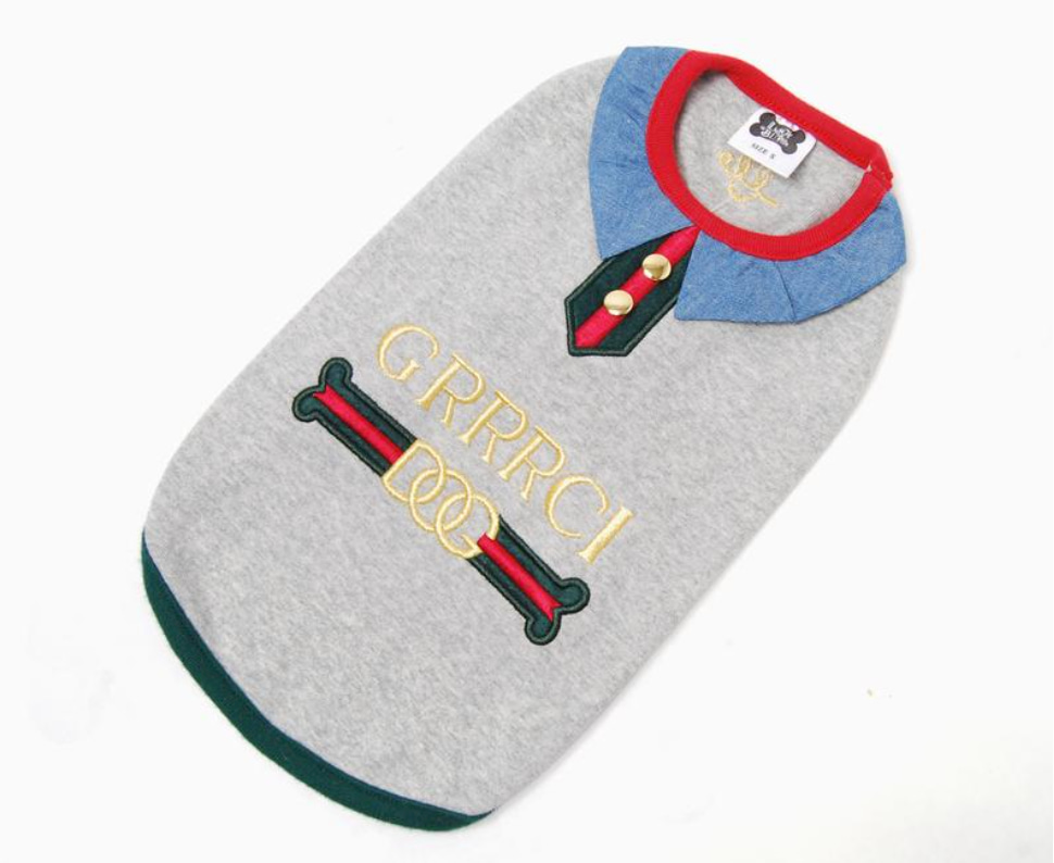 Gucci inspired dog sweater