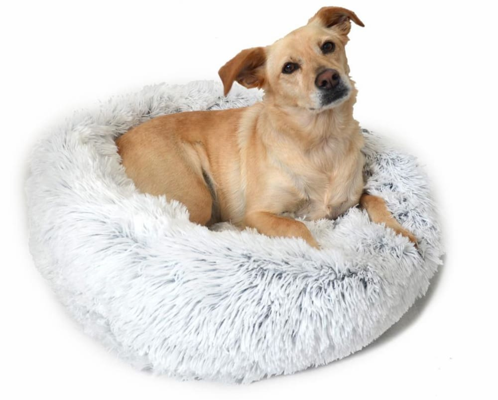 Original Calming Shag Donut Cuddler Pet Bed