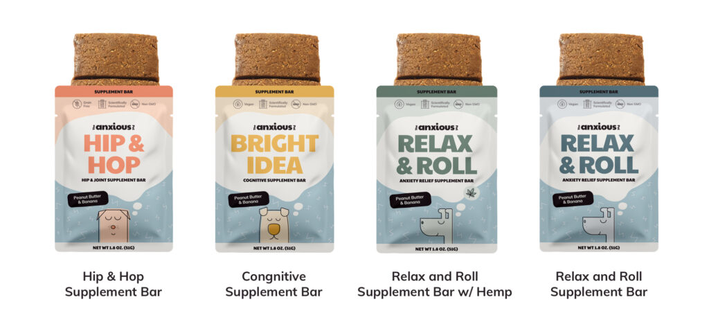 the anxious pet supplement bars