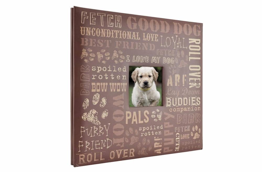 Dog memorial gift scrapbook