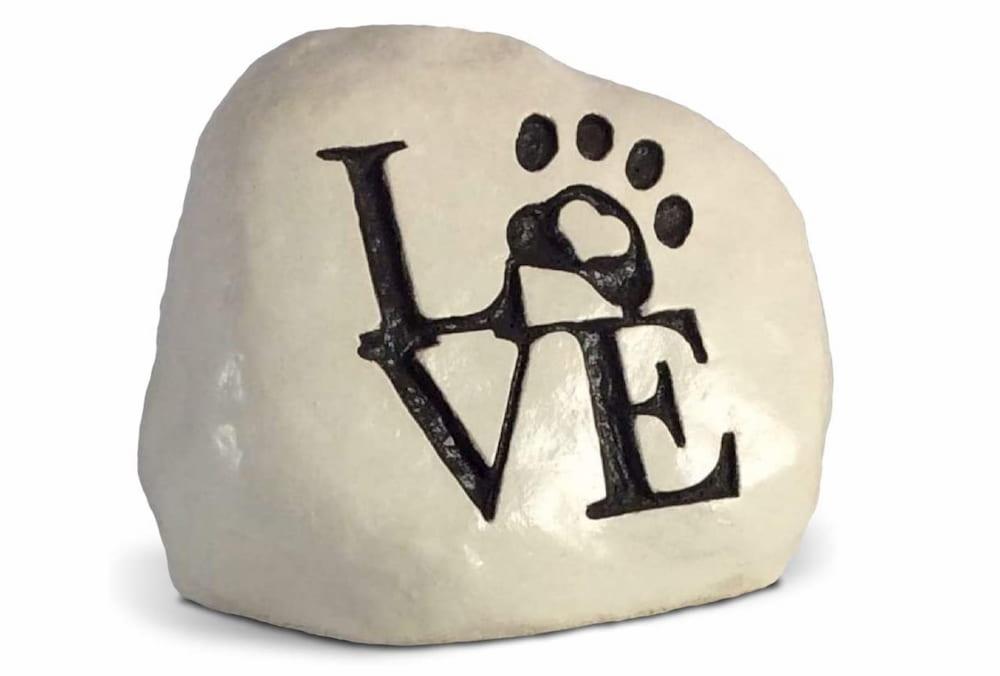Dog memorial rock
