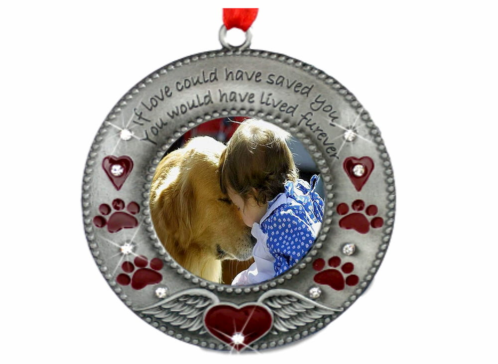Dog memorial ornament