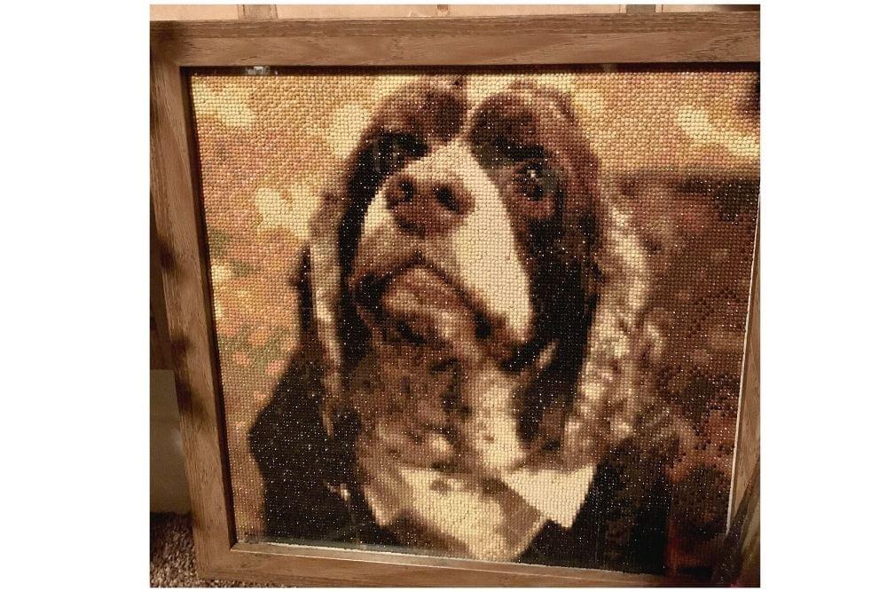 Dog memorial diamond painting