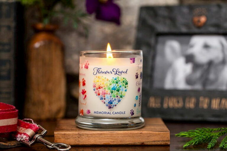 dog memorial gift candle