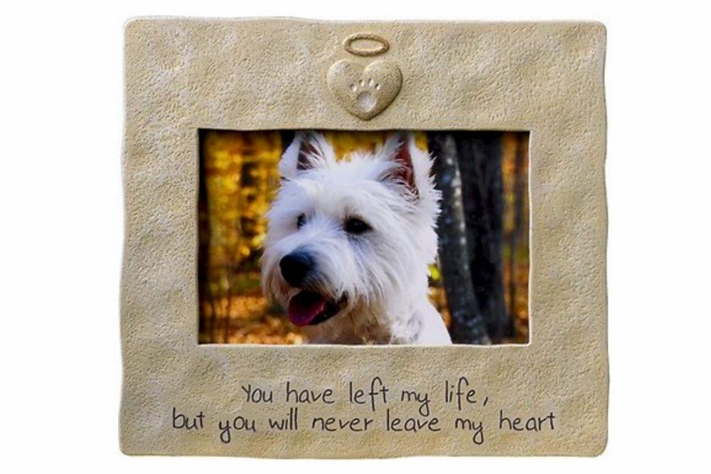 Dog memorial photo frame
