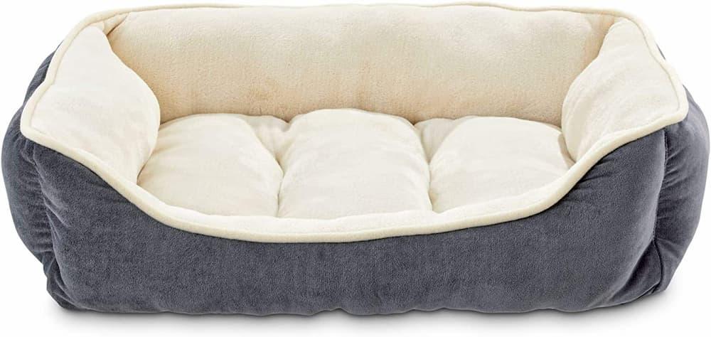 Animaze Gray Bolster Dog Bed