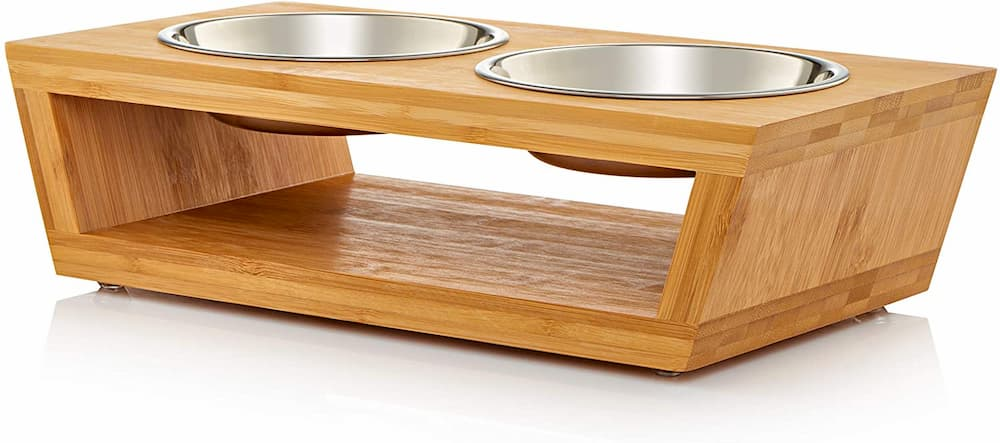 Pawfect Pets Wooden Raised Dog Bowl