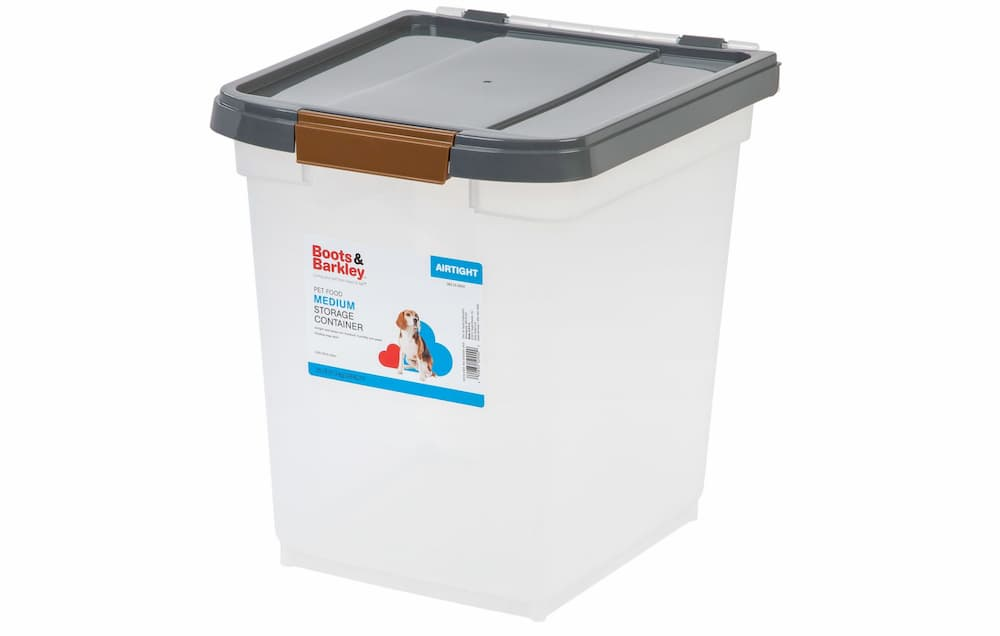 Boots and Barkley dog food container