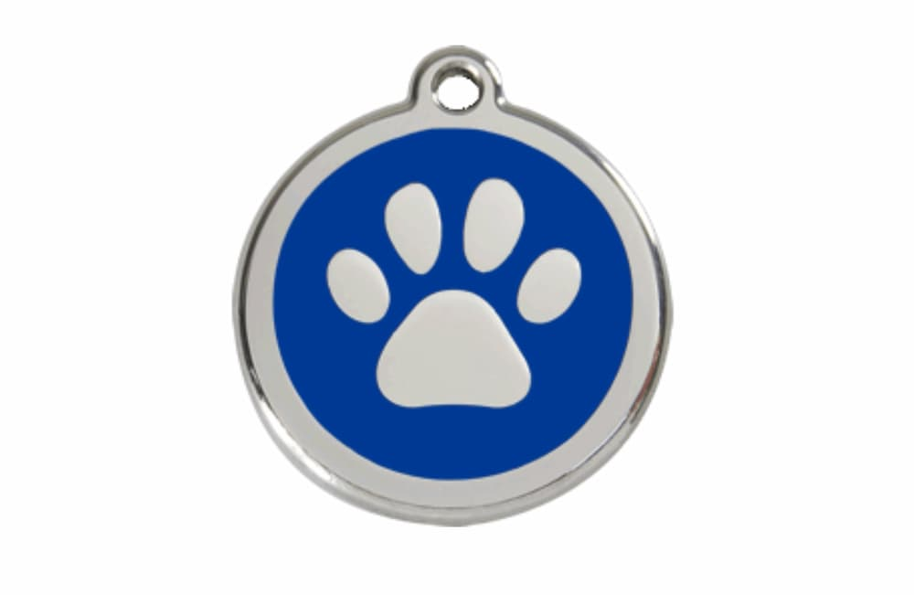 Stainless Steel Engravable Paw Pet Tag