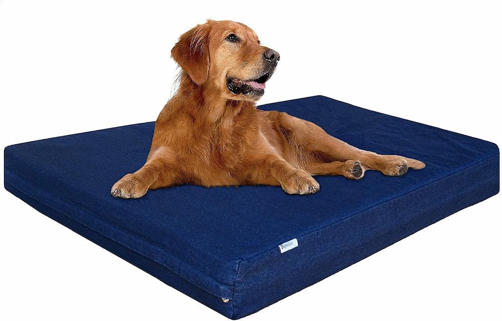 Dogbed4less Premium Denim Memory Foam Dog Bed