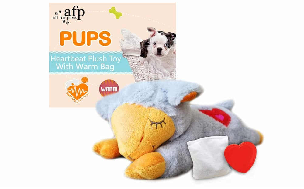 All for Paws Heartbeat Plush Toy with Warm Bag