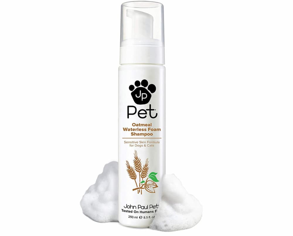 John Paul Pet Oatmeal Waterless Foam Shampoo for Dogs