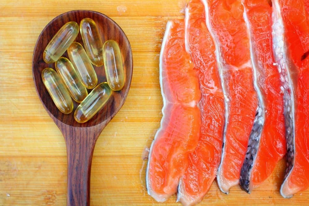 salmon oil capsules