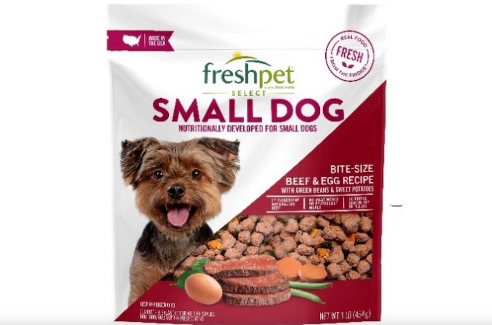 Freshpet Recalls Select Small Dog Food Due to Potential Salmonella