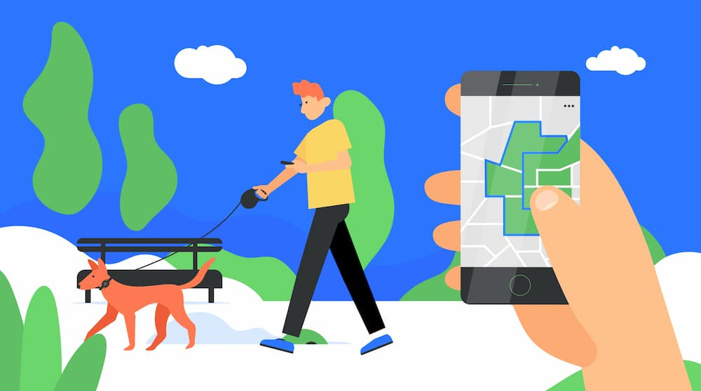 Illustration from Pawscout a smart pet tag that helps track where your pet is