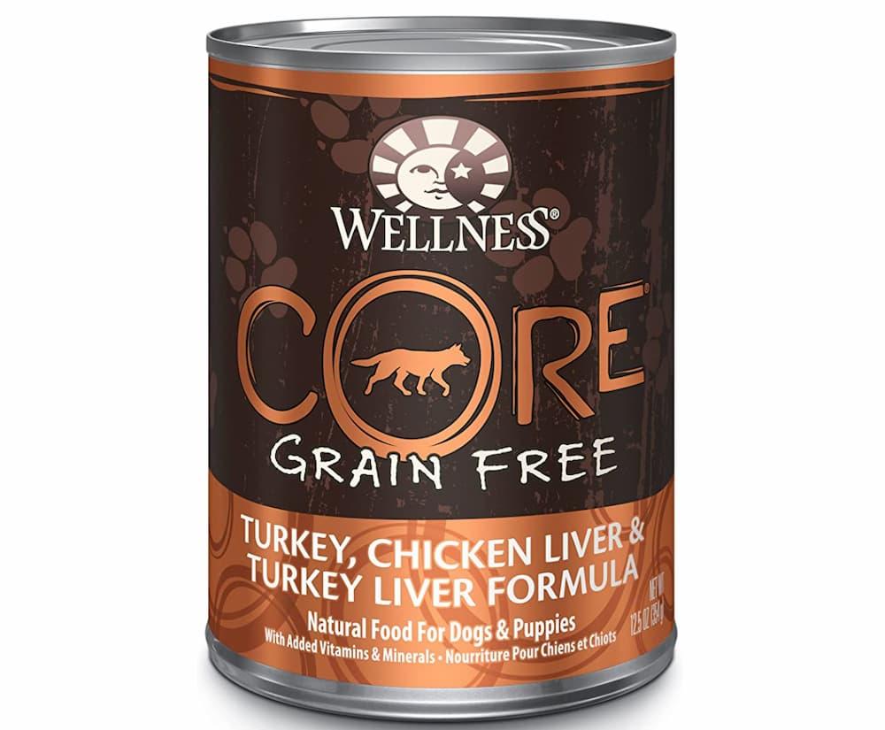 Wellness Core grain free can of wet dog food formula
