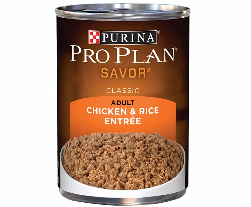 Tin of pro plan adult tin of wet food formula