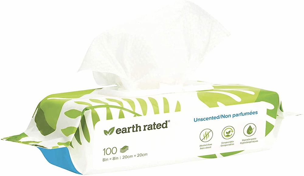 Earth Rated Deodorizing Pet Wipes